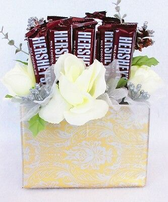Silver & Gold Christmas Candy Bouquet