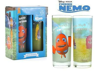 Finding Nemo Tumblers Glass Cups Kids Fun Dinner Time Juice Drink Christmas Gift