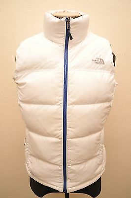 North Face Womens Large Goose Down 700 Gilet White Ga91