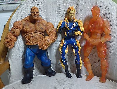 LOT OF 3 Marvel Comics Fantastic Four Action Figures 12in 2005 Toy Biz- RARE