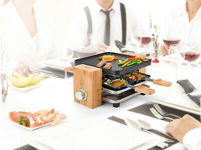 Design Raclette Partygrill, 4 Personen, 700W, Raclette Grill Gerät Tischgrill