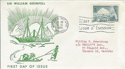 1965 #638 Sir Wilfred Grenfell FDC with unusual cachet