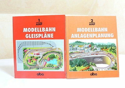AMP Alba 1 + 2 Model railway Facility planning and Track plans , 2 Books