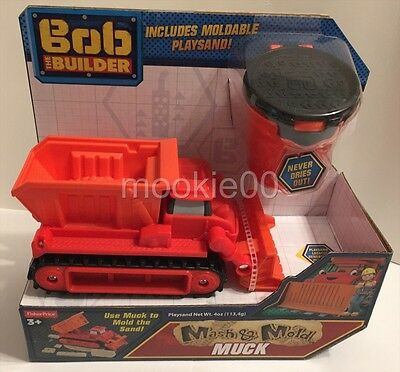 MASH & MOLD MUCK - Includes Playsand - Bob the Builder - Fisher Price - NIP 2015