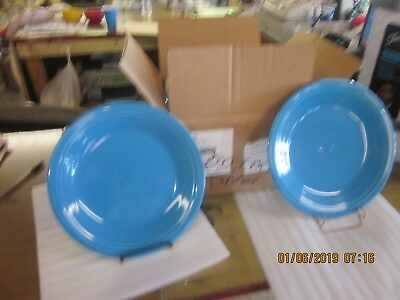 Fiesta Fiestaware Two Peacock Dinner plates New Discontinued