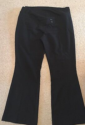 Maternity Black Over The Bump Work Trousers Size 16