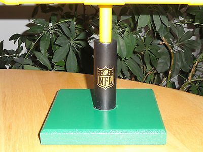 Football Goal Post Stand - Black/Yellow & NFL 50th Commemorative Shield Included