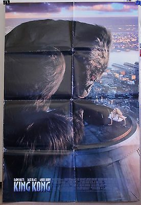 KING KONG original movie poster 27 X 40 2005 folded Double-sided mirror image
