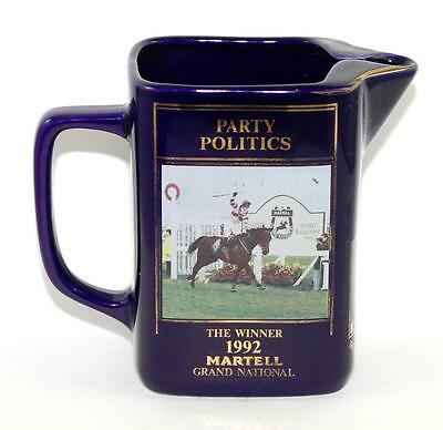 Limited Edition Martell Grand National 1992 'Party Politics' Water Whisky Jug