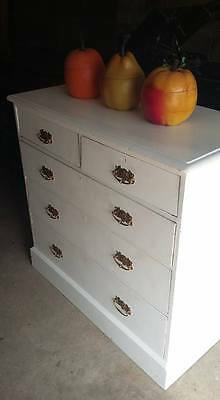 Victorian Painted  Pine 2 over 3 Chest of Drawers