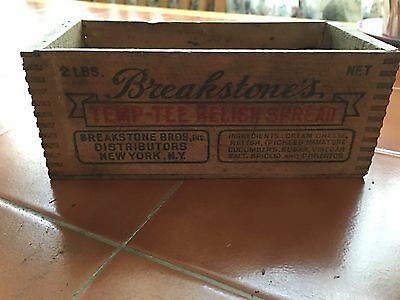 Breakstone's Temp-Tee Relish Spread 2lb Antique Box With Cow