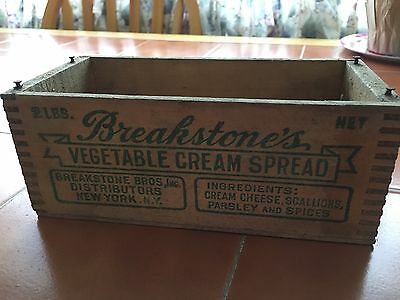 Breakstone's Vegetable Spread 2lb Antique Box With Cow