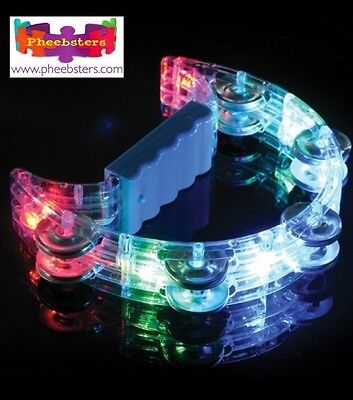 FLASHING TAMBOURINE - Sensory Toys Light Up Autism Special Need Asd ADHD Musical