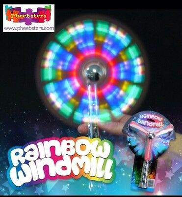 LIGHT UP RAINBOW WINDMILL SPINNER - Sensory Toys Light Up Autism Glow Flashing