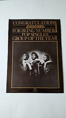 Bee Gees Group Of The Year (1976)  Rare Original Print,promo Poster Ad