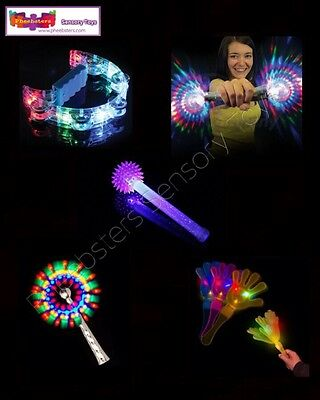 LIGHT UP FLASHING TOY SET - Sensory Toys Autism Asd Special Needs Glow Wand