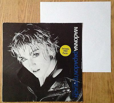 """Madonna  Papa Don't Preach  1986 Germany 12"""" + Poster"""
