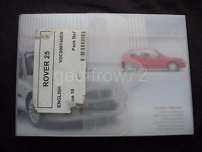 Genuine Rover 25 Owners Handbook / Audio Manual/Service History All-in-1 RCL0546