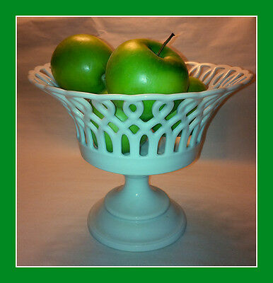 French Old Paris Porcelain Reticulated Footed Compote Bowl French 19th Century