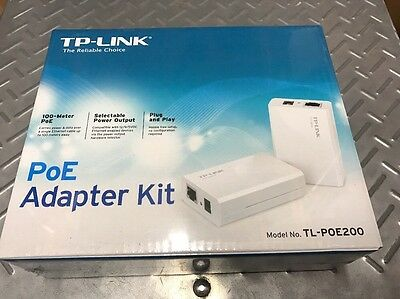 TP LINK PoE INJECTOR POWER OVER ETHERNET ADAPTER BNIB