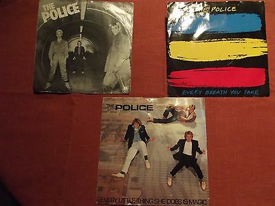 'The Police' 3 x 45's singles from the 1970's / 1980's 'So Lonely' etc