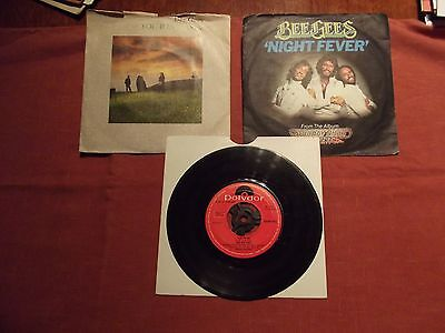 'Bee Gees' 3 x 45's singles from 1970's 80s  'Night Fever' etc