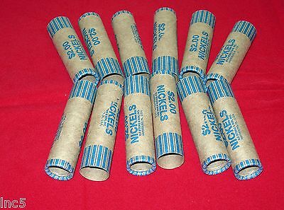 50  Preformed  Coin Wrappers  Nickels