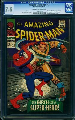 AMAZING SPIDER-MAN #42 CGC 7.5 1st Mary Jane App in cameo!