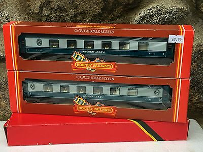 2 Hornby Oo Gauge Blue Grey Pullman Golden Arrow Coaches Boxed