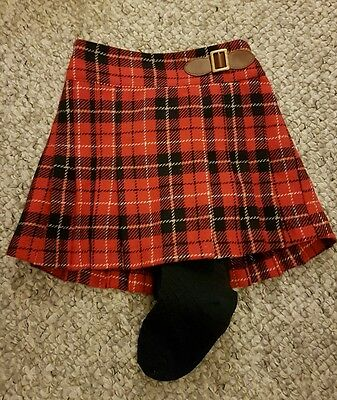 BNWT Next girls tartan skirt with tights. 4-5 years