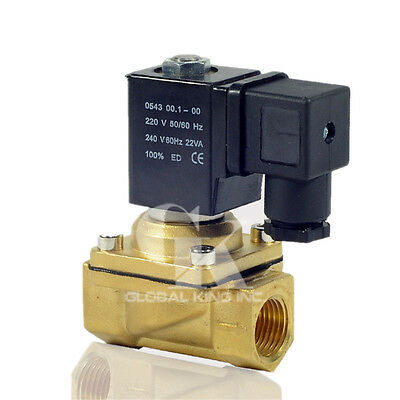 "Brass 12V DC G3/8"" Electric Solenoid Valve Water Air Fuels Gas Normal Closed"