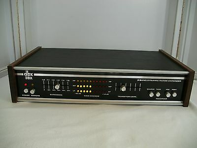 VINTAGE DBX 3BX Stereo 3 Band Dynamic Range Expander Tabletop with wood sides