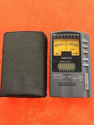 Seiko SMP-20 Chromatic Tuner & Metronome Made In Japan w /cover Rare