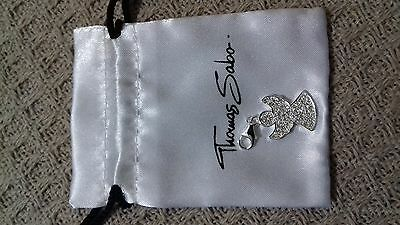 Genuine Thomas Sabo Angel Pave Charm Pendant