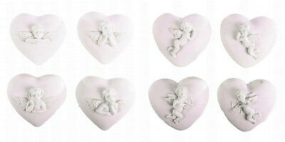 Cherub Heart Keepsake Collectable Figurine with Guardian Angel Design 4cm 03-017