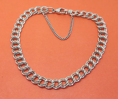 JAMES AVERY Sterling Silver LARGE 8 1/4 inch MEDIUM DOUBLE CURB CHARM BRACELET