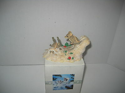 Charming Tales By Dean Grief Hot Doggin Mice Skating  Christmas Figurine