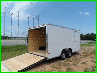 8.5x16 2' v nose 18' advanced motorcycle enclosed cargo carhauler trailer New