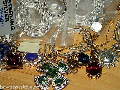 ALL 925 Silver Mixed Necklaces Jewelry 85 grams SCRAP Wearable 1 needs repaired