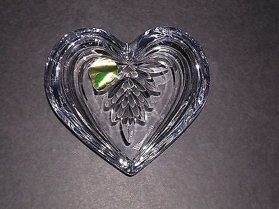 Waterford Crystal ~ Heart Shaped Paperweight ~ Boxed