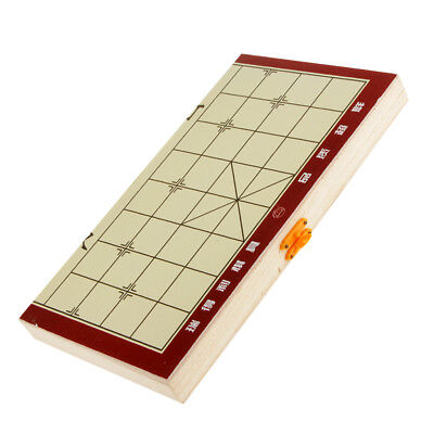 Portable Traditional Xiang Qi Wooden Folding Chinese Chess Checker Games