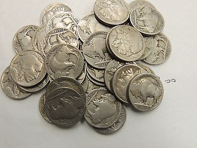 40 Coin Lot-Indian Head/buffalo Nickels- Partial Dates-Free Shipping!