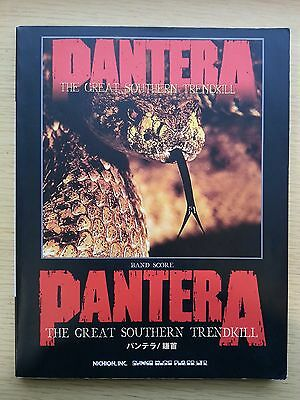 PANTERA - The Great Southern Trendkill / Dimebag Darrell - JAPAN BAND SCORE TAB