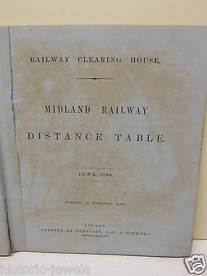 RCH Midland Railway 1868 distance table