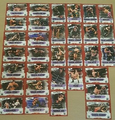 wwe slam attax takeover full set of signiture moves