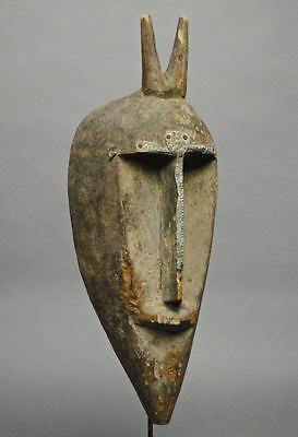 From LADISLAS SEGY GALLERY 1970 COA Old BAMBARA KORE Mask Wood Metal MALI Africa