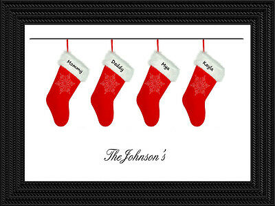 Christmas Stockings Print Personalized with family names *DOWNLOADABLE*