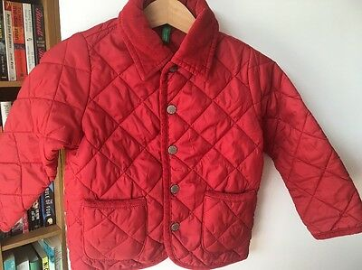 United Colors of Benetton Toddler Girl 18-24 Months Padded Red Coat