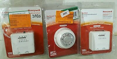 Honeywell CT31A heat/cool & CT87N Round Head Thermostats 2272 E