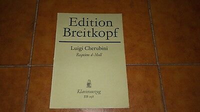 Cherubini Requiem Re Minore D Minor Spartito Canto Piano Vocal Score Breitkopf